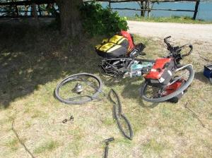 1st flat tire